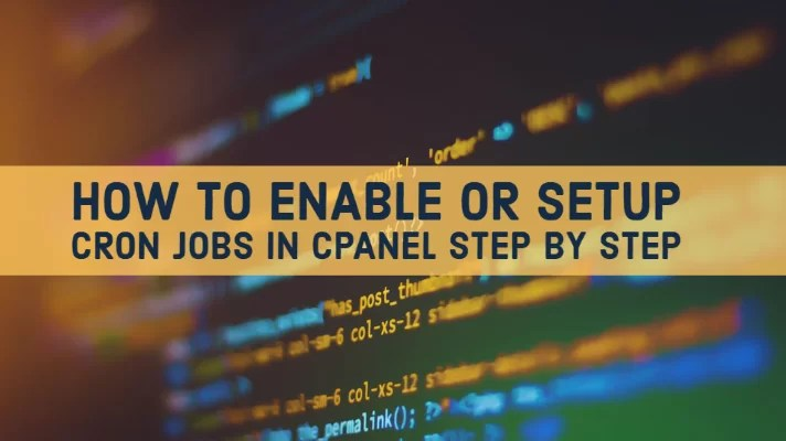 The way to Allow or Setup Cron Jobs in cPanel Step By Step