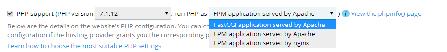 FastCGI or PHP-FPM