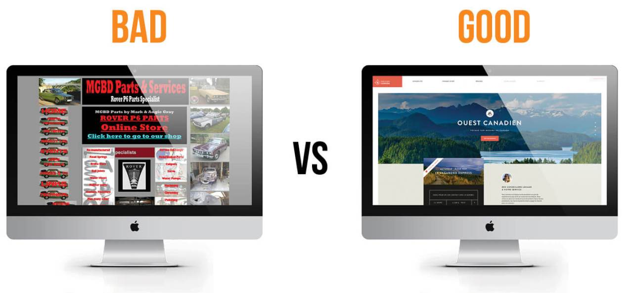 Business Website - Bad vs Good