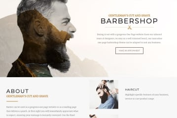 Barber Theme One Page Website