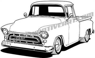 Vector 57 Chevy Clipart