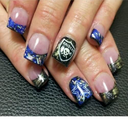 Dallas cowboys makeup ideas makeupink dallas cowboys nail art designs best nails ideas prinsesfo Image collections