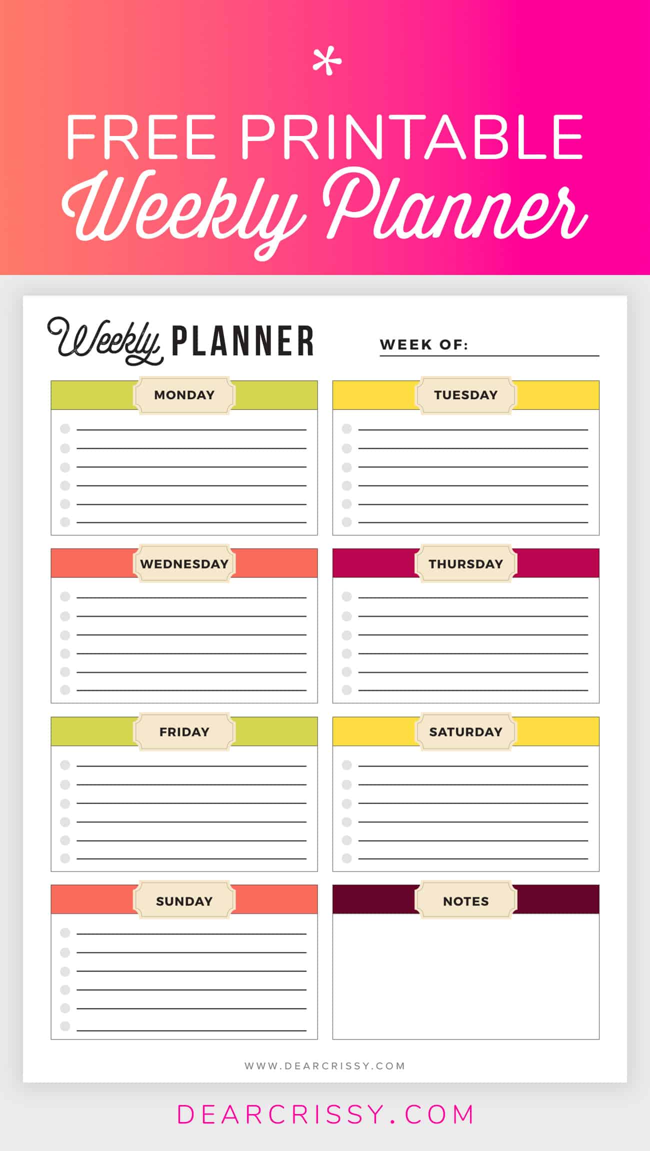 11 Free Printable Planners To Help Get Your Life Together