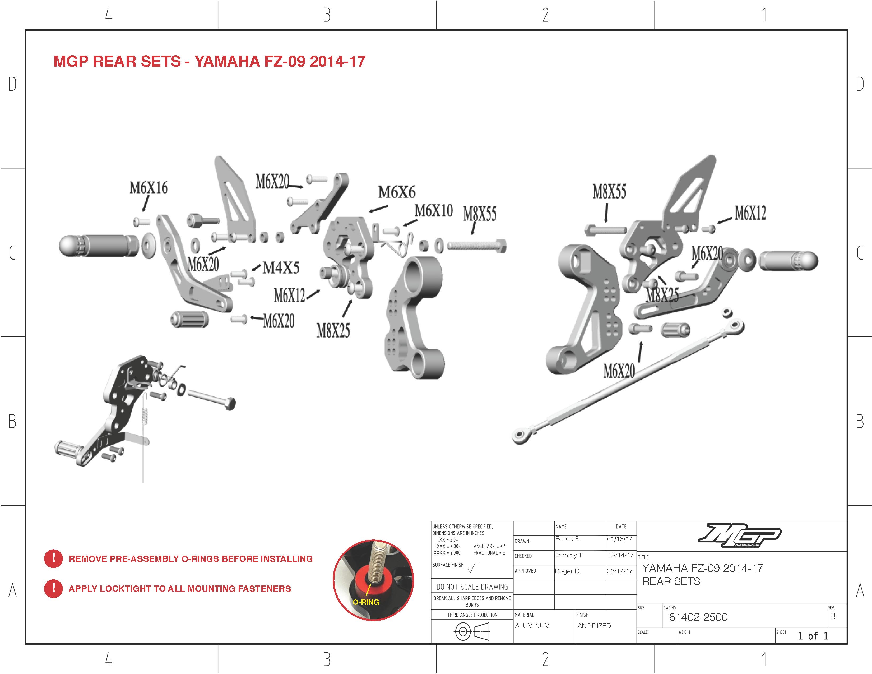 Fz 09 Mt 09 Fj 09 19 Mgp Rearsets