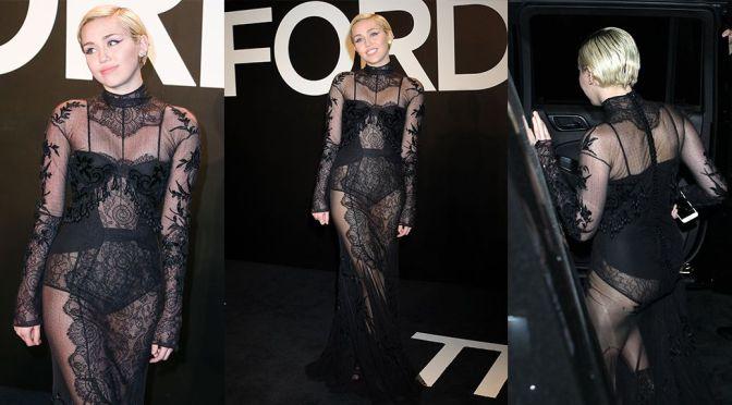 "Miley Cyrus - ""Tom Ford"" Fashion Show in Los ANgeles"