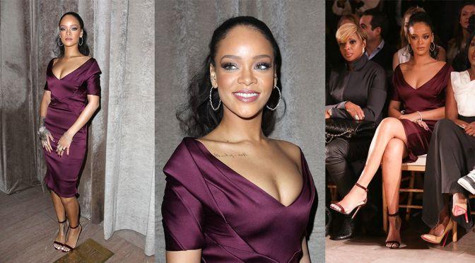"""Rihanna – """"Zac Posen"""" Fashion Show in New York"""