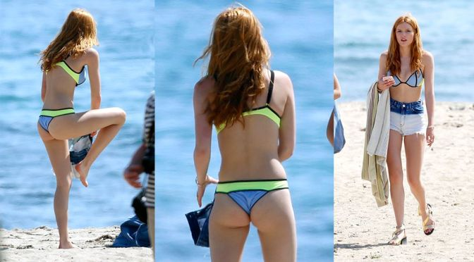 Bella Thorne – Bikini Candids in Malibu