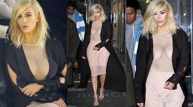 """Kim Kardashian – """"Lanvin"""" Fashion Show in Paris"""