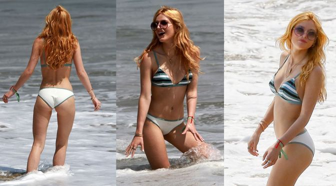 Bella Thorne – Bikini Candids in Los Angeles