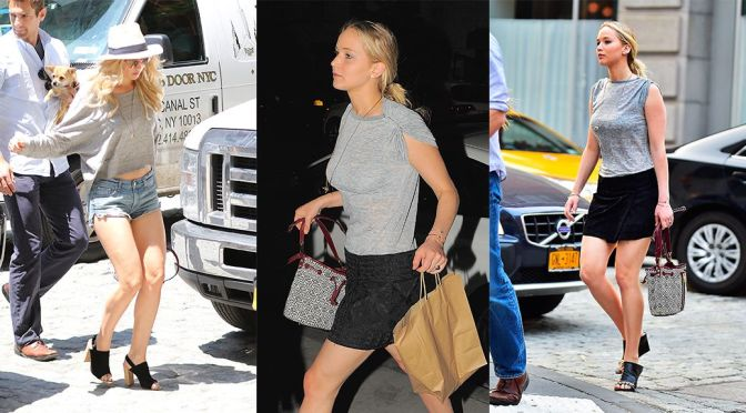 Jennifer Lawrence – Leggy Candids in New York