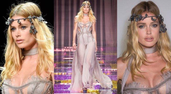 Doutzen Kroes – Versace Fashion Show in Paris