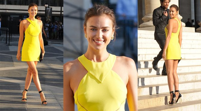 Irina Shayk – Versace Fashion Show in Paris