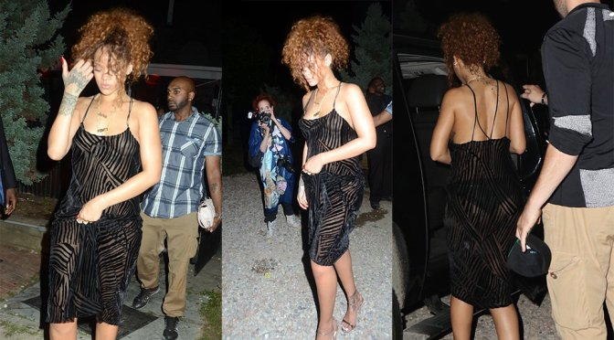 Rihanna – Braless See-Through Candids in New York