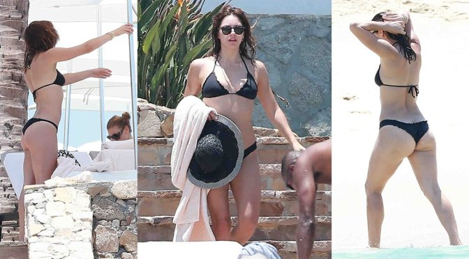 Katharine McPhee – Bikini Candids in Cabo San Lucas