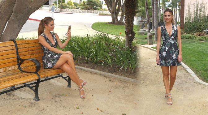 "Maria Menounos on ""E! News"" TV Show Set"