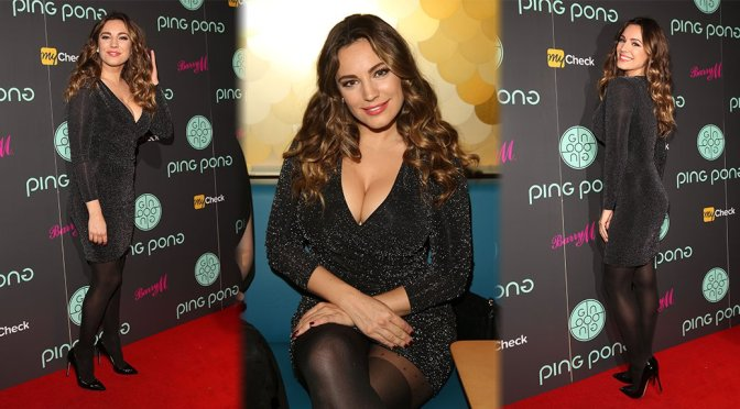 Kelly Brook – Ping Pong Pestaurant Launch in London