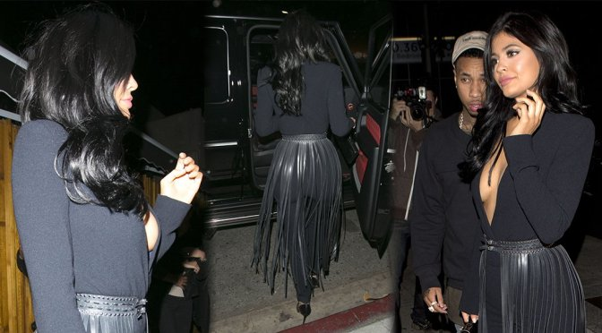 Kylie Jenner - Cleavage Candids in West Hollywood