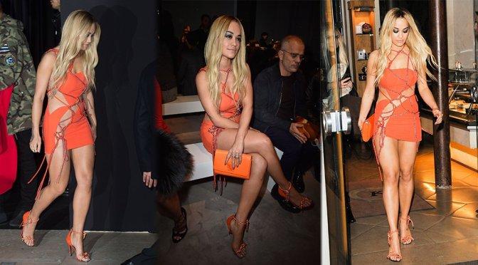 Rita Ora – Versace Spring Summer 2016 Fashion Show in Paris