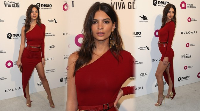 Emily Ratajkowski – 24th Annual Elton John AIDS Foundation's Oscar Viewing Party