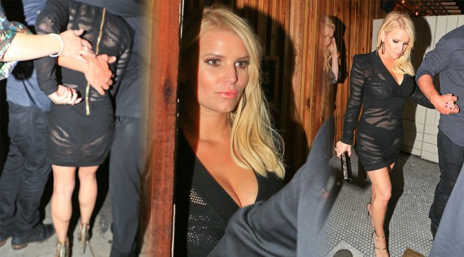 Jessica Simpson at The Nice Guy Nightclub in West Hollywood