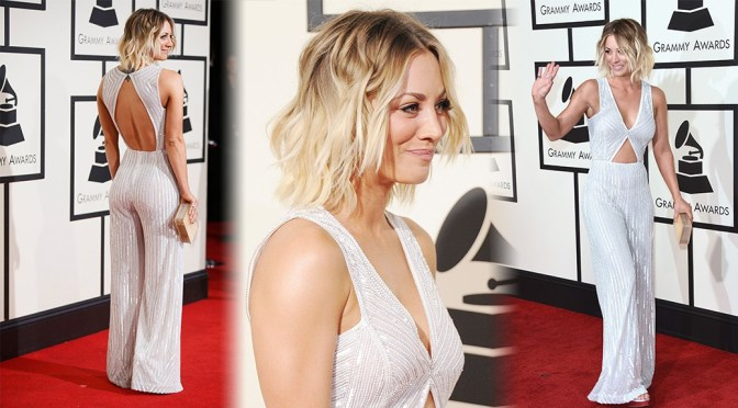 Kaley Cuoco – 58th GRAMMY Awards in Los Angeles