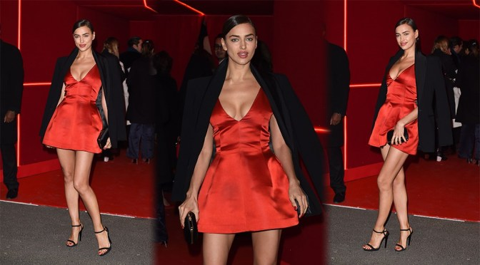 Irina Shayk – L'Oreal Red Obsession Party in Paris