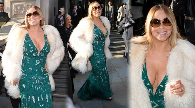 Mariah Carey – Cleavage Candids in London