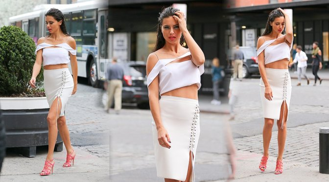 Adriana Lima – Photoshoot Candids in New York