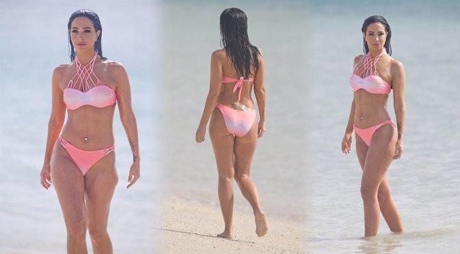 Tulisa Contostavlos – Bikini Candids in Dubai