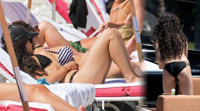 Vanessa & Stella Hudgens – Bikini Candids in Miami