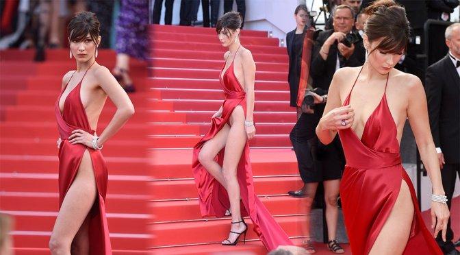 """Bella Hadid – """"La Fille Inconnue"""" Premiere in Cannes"""