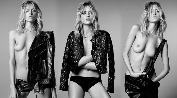 Martha Hunt – Topless Photoshoot by Adam Franzino