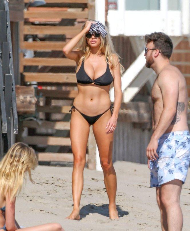 Charlotte McKinney - Bikini Candids in Malibu