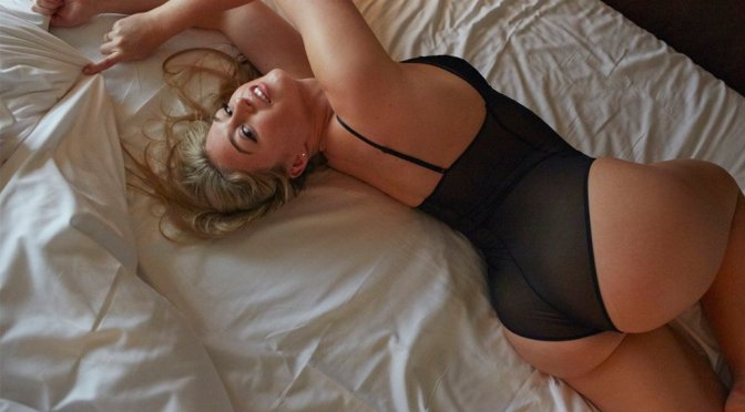 "Iskra Lawrence – ""Hotel Ma Cherie"" Lingerie Photoshoot"