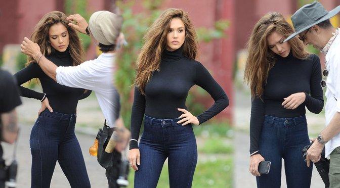 Jessica Alba – Photoshoot Candids in New York