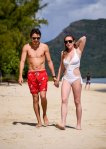 Lindsay Lohan - Swimsuit Candids in Mauritius