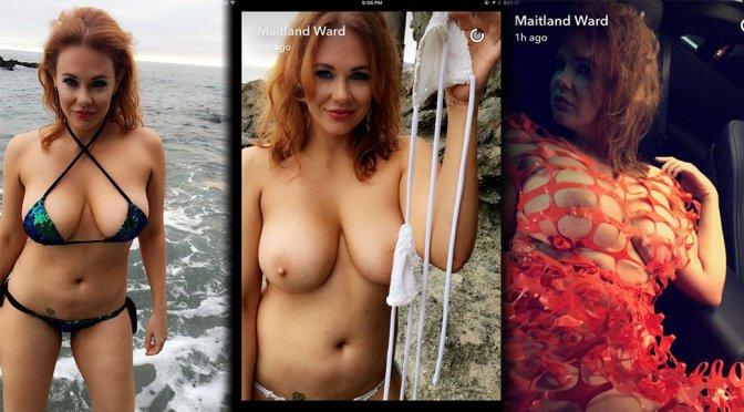 Maitland Ward – Topless Photoshoot Candids in Laguna Beach