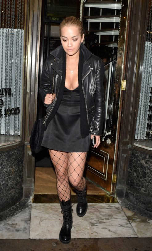 Rita Ora - Cleavage Candids in London