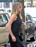 Jennifer Aniston - Braless Candids in New York