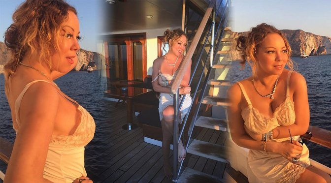 Mariah Carey – Lingerie Photoshoot Candids in Capri