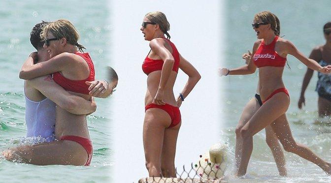 Taylor Swift – Bikini Candids in Rhode Island