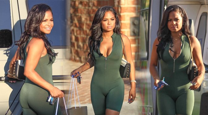 Christina Milian – Braless Candids in Los Angeles