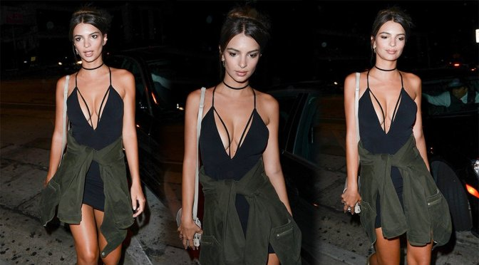 Emily Ratajkowski – Cleavage Candids in West Hollywood