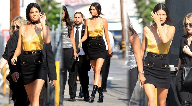 "Kendall Jenner Arrives at ""Jimmy Kimmel Live"" in Hollywood"