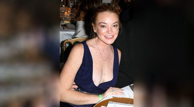 Lindsay Lohan – Nipslip Candids in Porto-Cervo