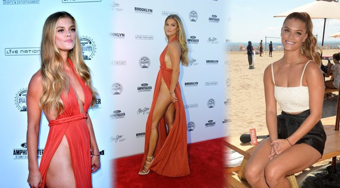 Nina Agdal – Sports Illustrated Summer of Swim Fan Festival