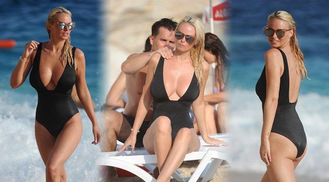 Rhian Sugden – Swimsuit Candids in Turkey