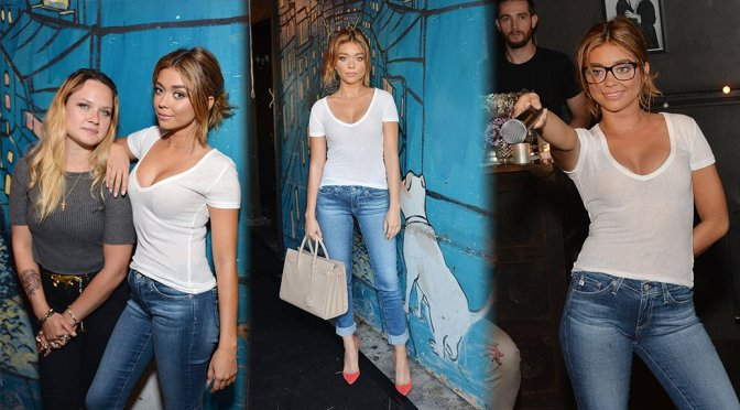 Sarah Hyland – Glamour and AG Denim & Music Dinner in Los Angeles