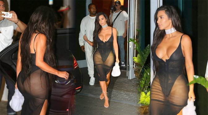 Kim Kardashian – Lingerie Candids in Miami