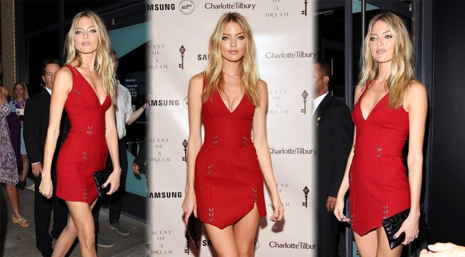 Martha Hunt – Charlotte Tilbury x Samsung in New York